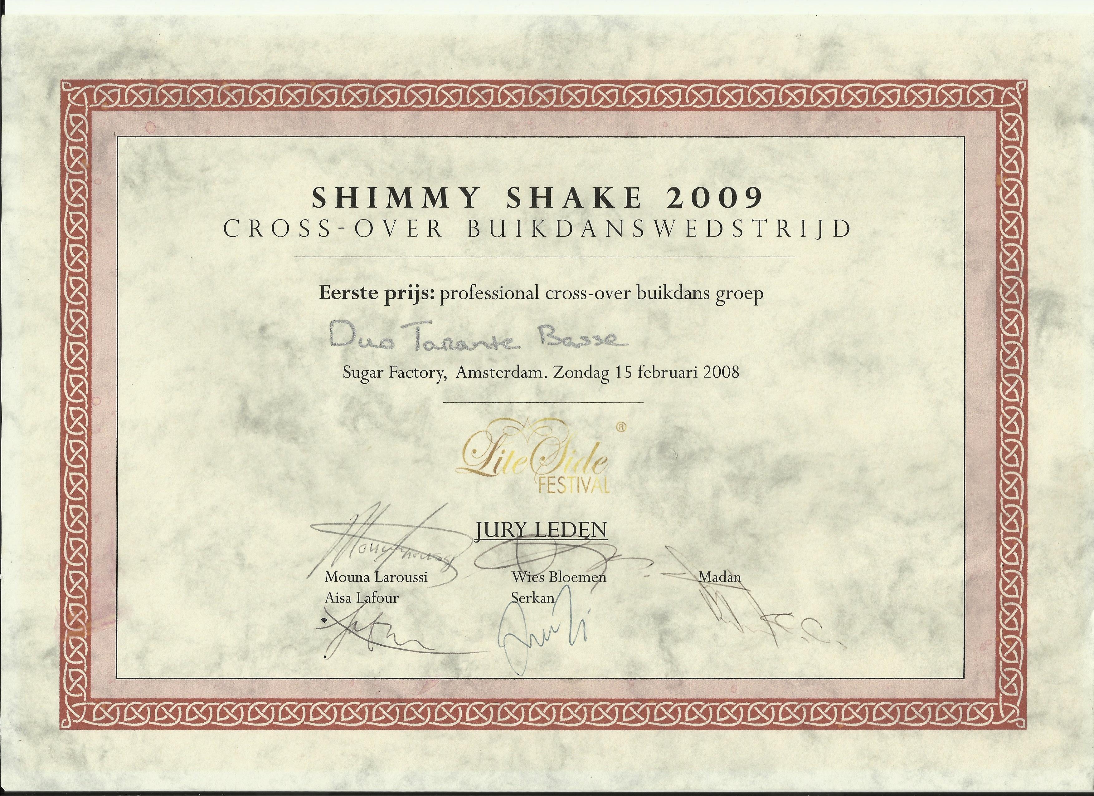 shymmy-shake-frist prize DUo Tarante Basse